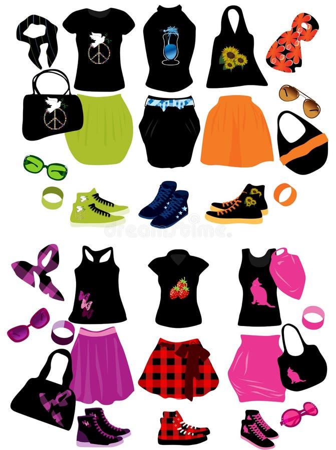 Éléments de mode illustration libre de droits