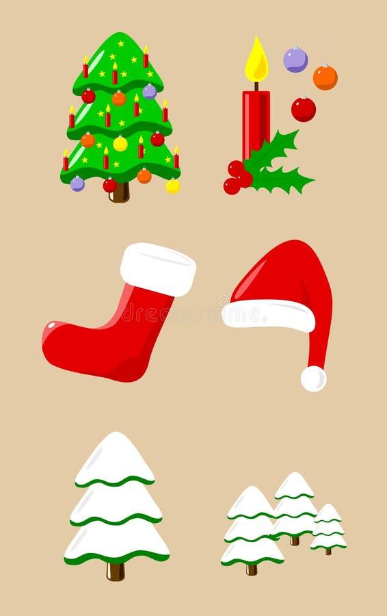 Éléments de Noël illustration de vecteur