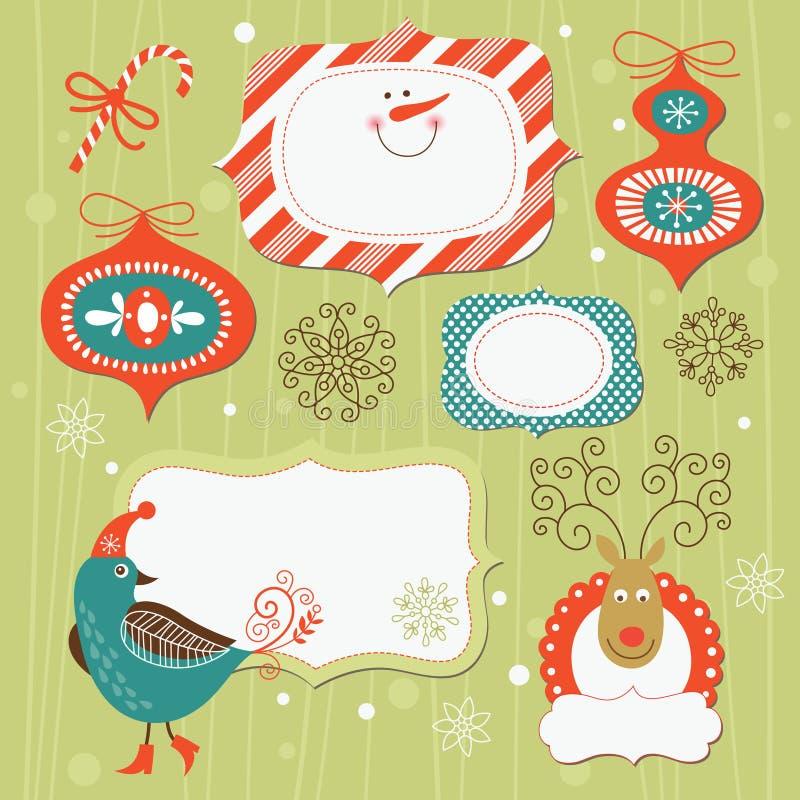 Éléments de Noël et d'an neuf illustration de vecteur