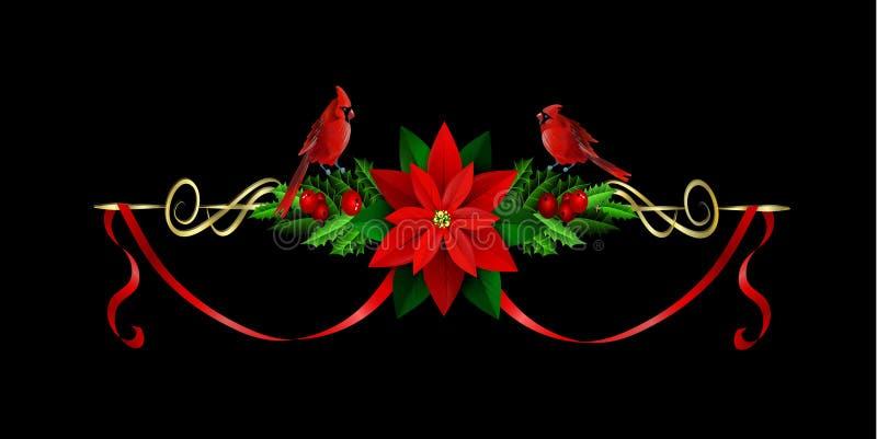 Éléments de Noël pour vos conceptions illustration stock
