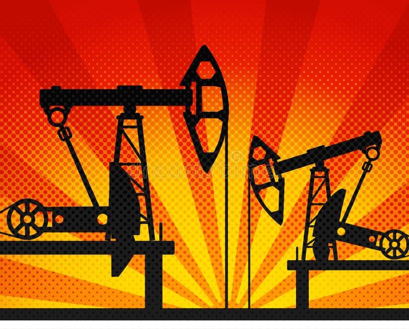 Éléments de pétrole illustration stock