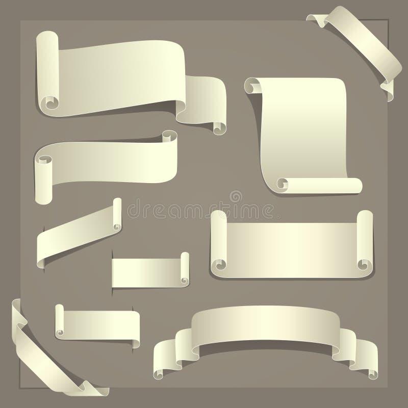 Éléments de papier de conception illustration stock