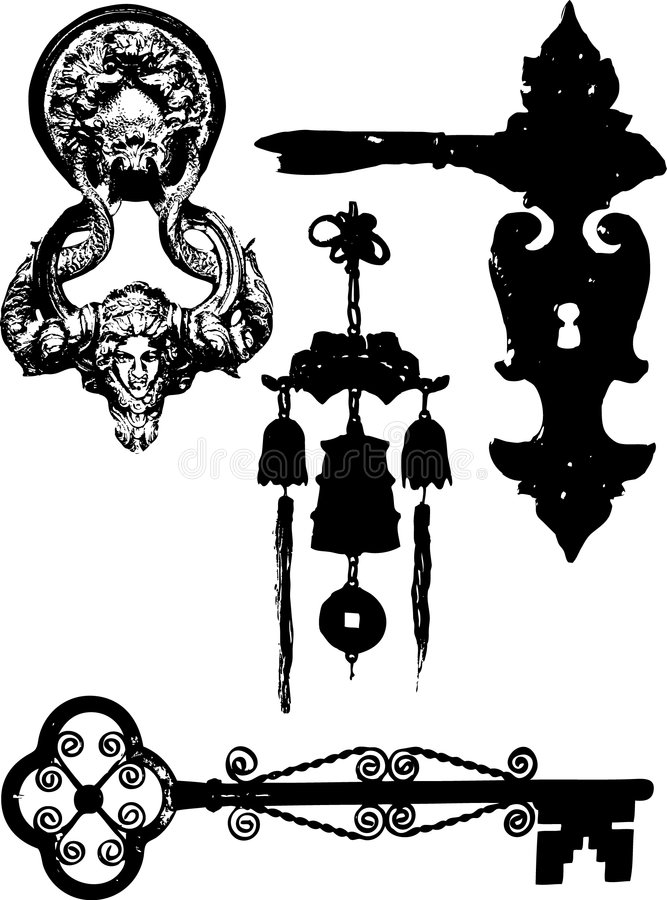 Éléments de trappe illustration de vecteur