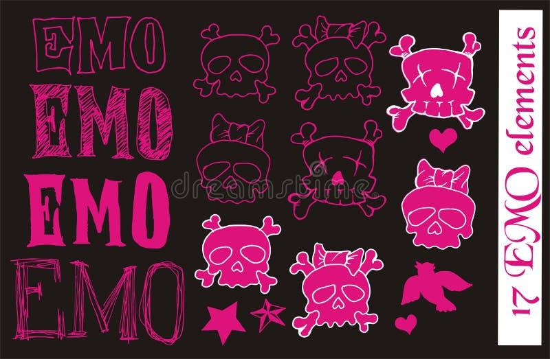 Éléments de vecteur d'EMO illustration stock