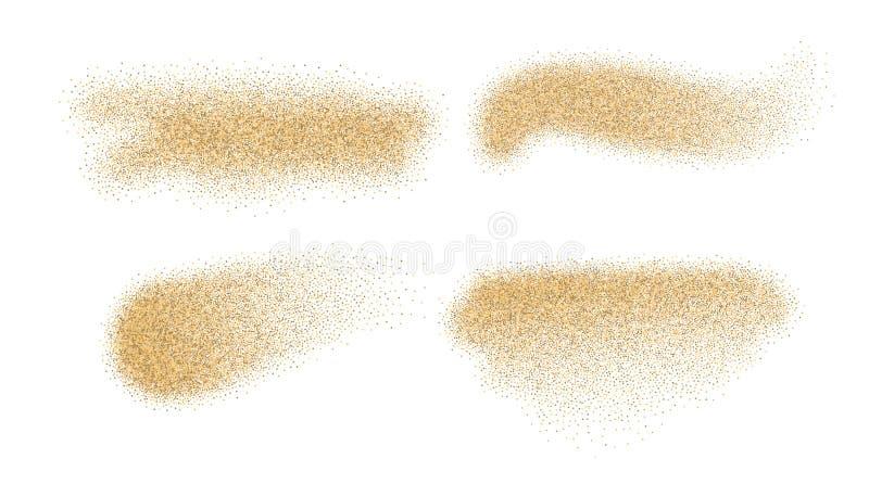 Éléments de vecteur de sable illustration de vecteur