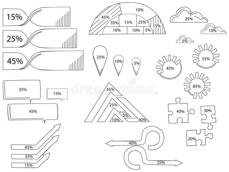 Éléments de vecteur pour infographic Calibre pour le diagramme de cycle, le graphique, la présentation et le diagramme rond Conce illustration de vecteur