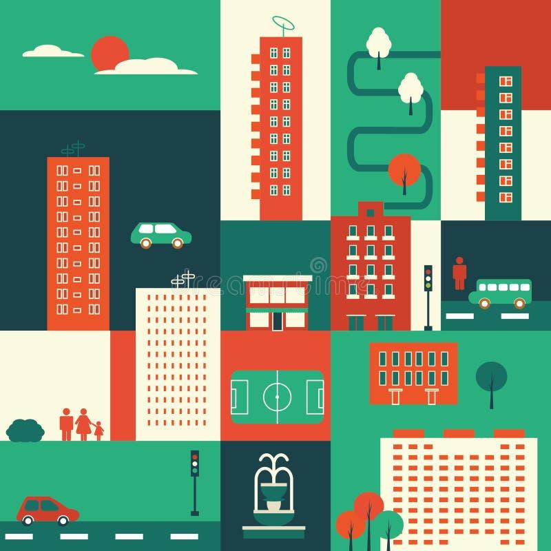 Éléments de ville illustration libre de droits