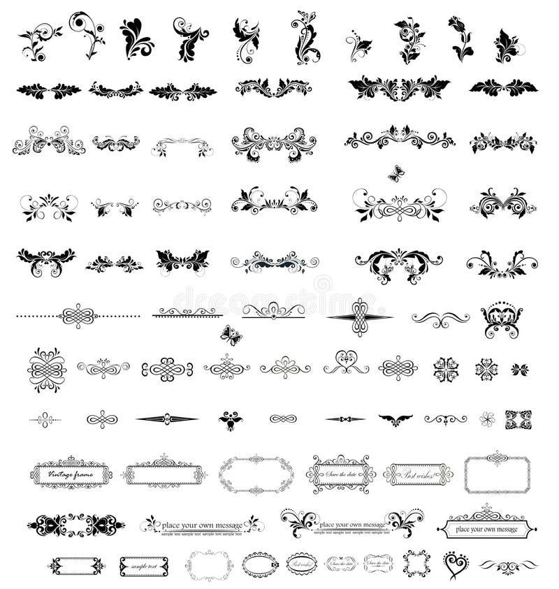 Éléments de vintage pour votre conception illustration libre de droits