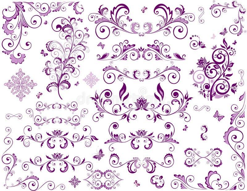 Éléments de violette de vintage illustration libre de droits