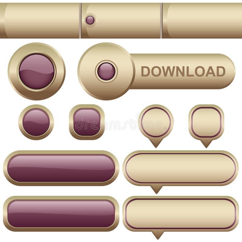 Éléments de Web illustration stock