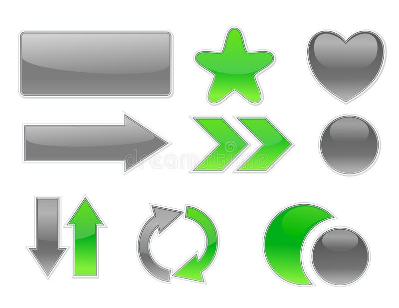 Éléments de Web de ramassage. illustration de vecteur