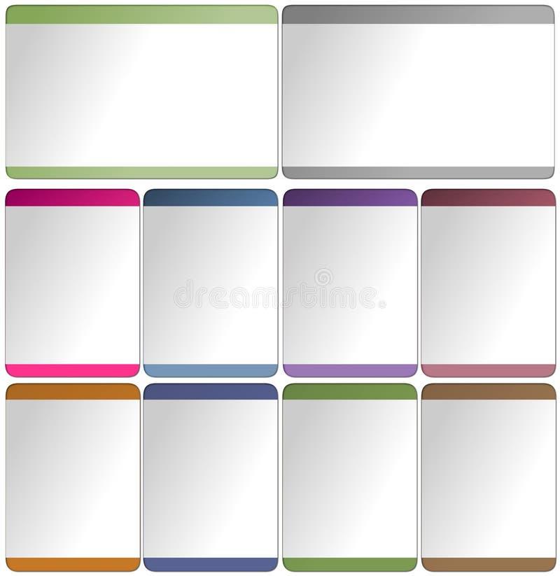 Éléments de Web pour des descripteurs illustration stock
