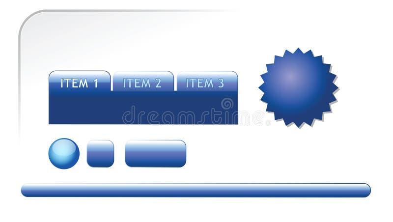Éléments de Web pour votre page Web illustration stock