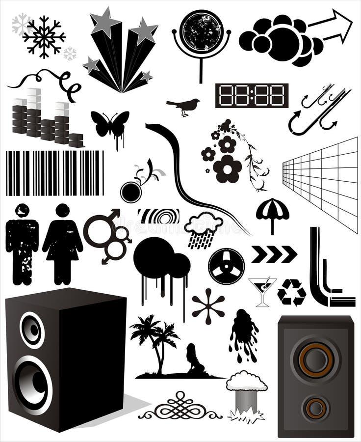 Éléments divers de conception illustration libre de droits
