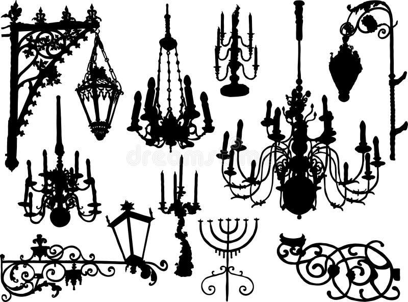 Éléments du baroque de vecteur illustration de vecteur