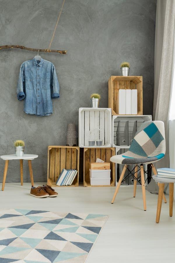 Éléments en bois dans l'intérieur moderne photos stock