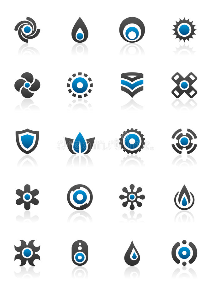 Éléments et dessins de conception illustration stock