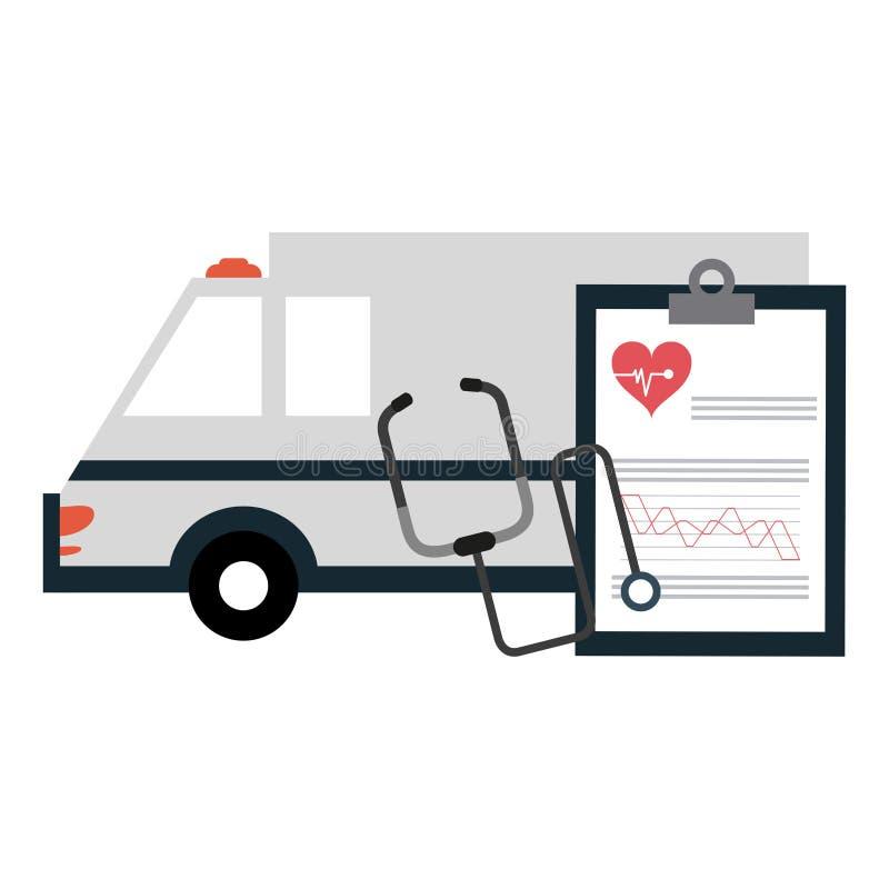 Éléments et symboles médicaux illustration de vecteur