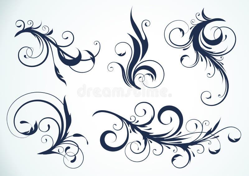 Éléments floraux illustration stock