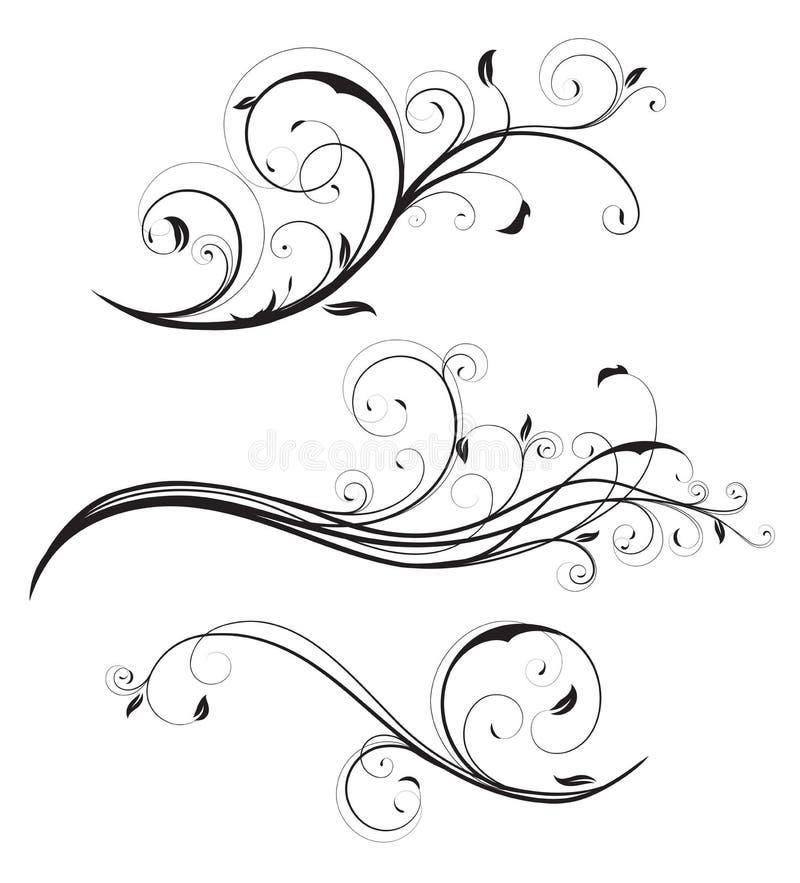 Éléments floraux illustration de vecteur