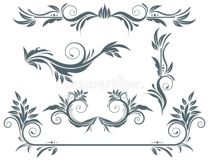 éléments floraux illustration libre de droits