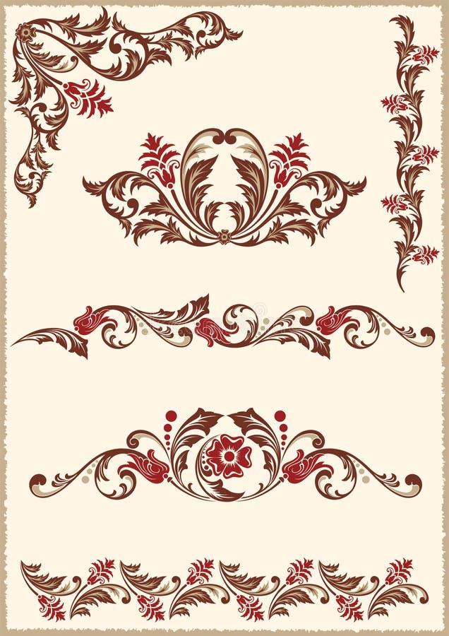 Éléments floraux de conception illustration de vecteur