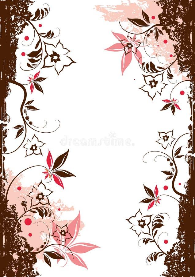 Éléments floraux de vecteur illustration stock