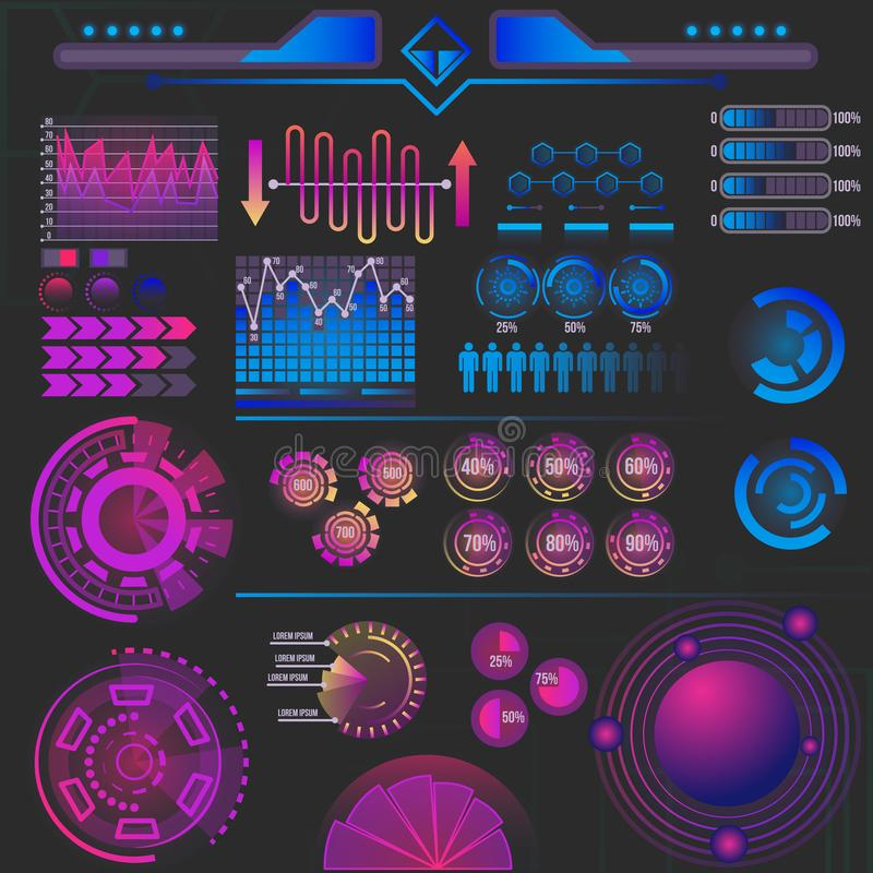Éléments futuristes abstraits d'infographics illustration stock