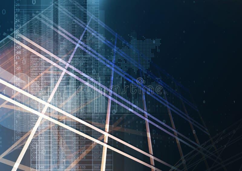 Éléments géométriques abstraits de graphique de technologie image stock