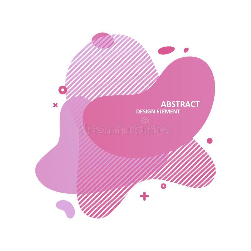 Éléments graphiques dynamiques abstraits Composition avec des formes de liquide de gradient Calibre pour la bannière, l'insecte e illustration stock