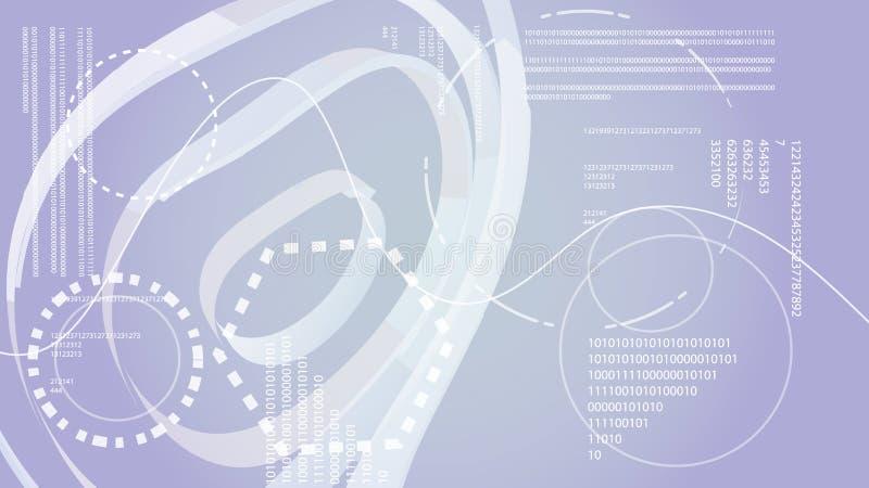 Éléments graphiques numériques de HUD de technologie énergétique moderne abstraite grise blanche d'une future texture circulaire  illustration de vecteur