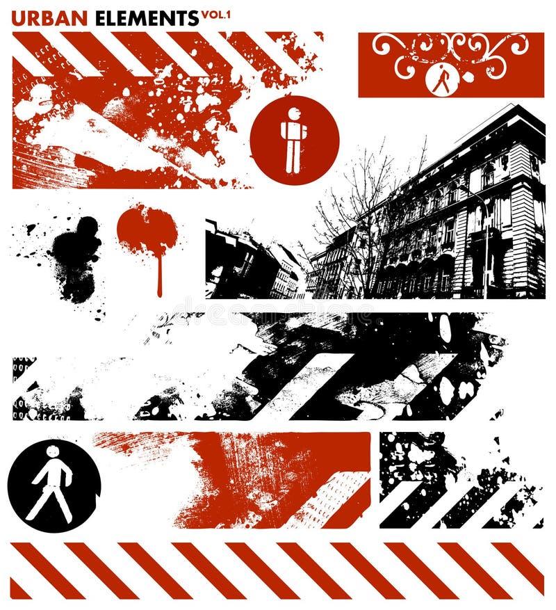 Éléments graphiques urbains 1/vecteur illustration libre de droits