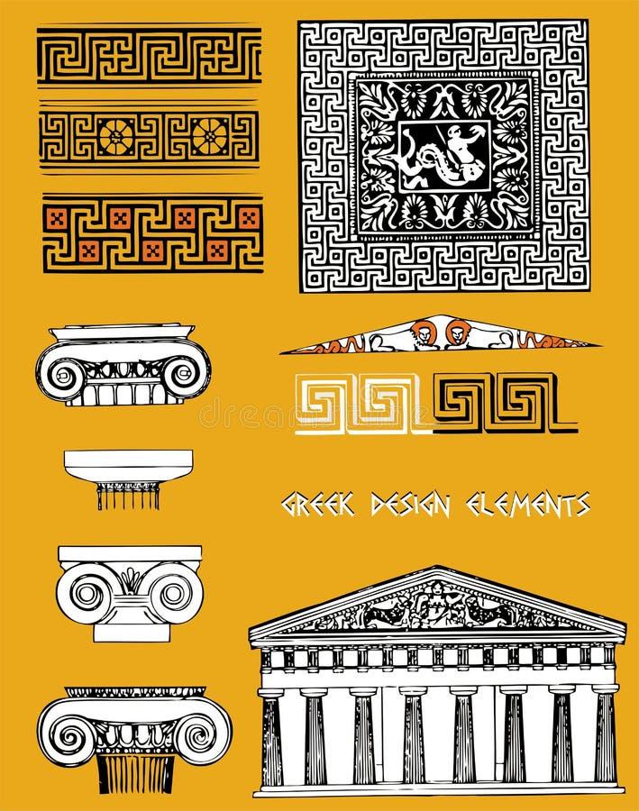 Éléments grecs de conception illustration de vecteur