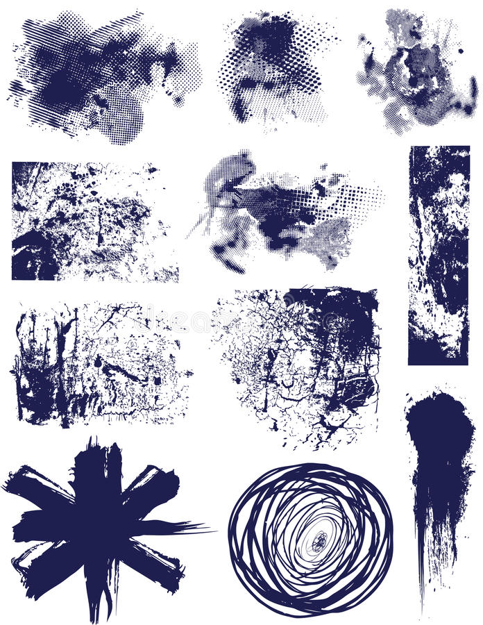 Éléments grunges   illustration stock