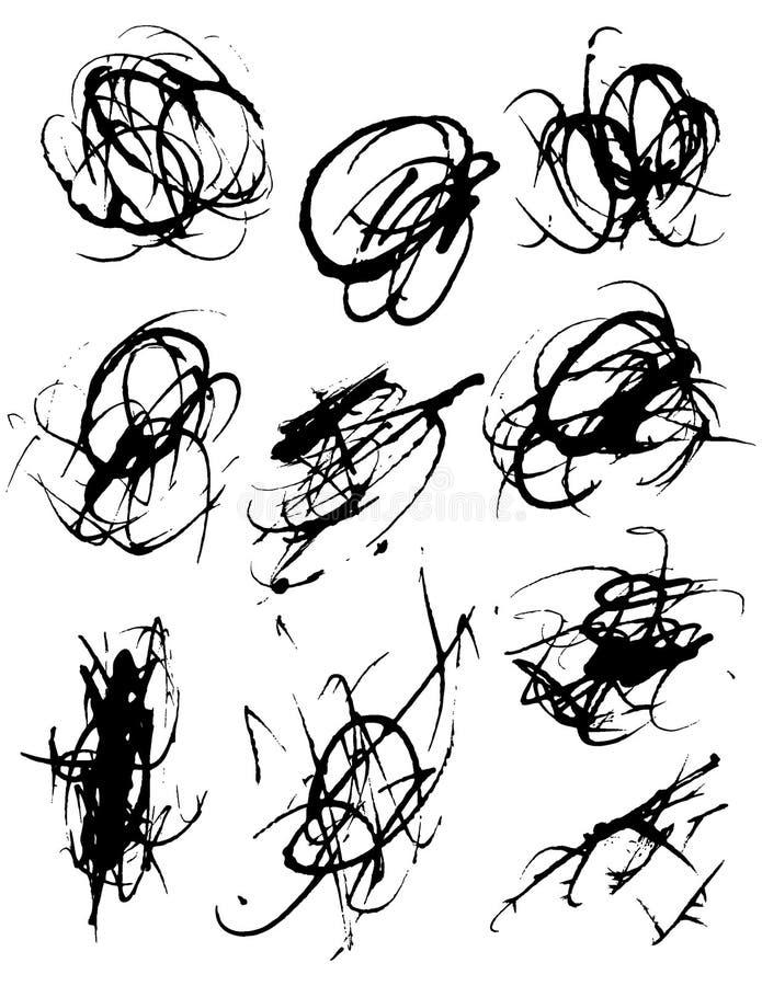 Éléments grunges illustration de vecteur