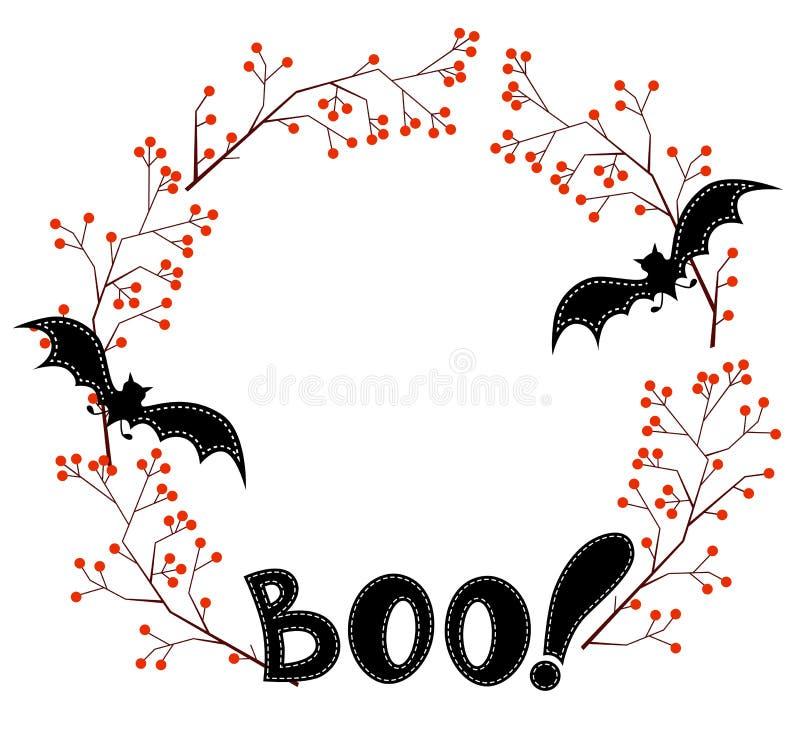 Éléments heureux de conception de Halloween, guirlande illustration de vecteur