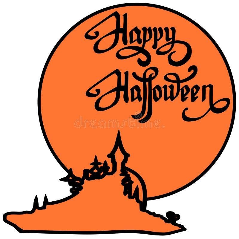 Éléments heureux de conception de Halloween Éléments de conception de Veille de la toussaint illustration stock