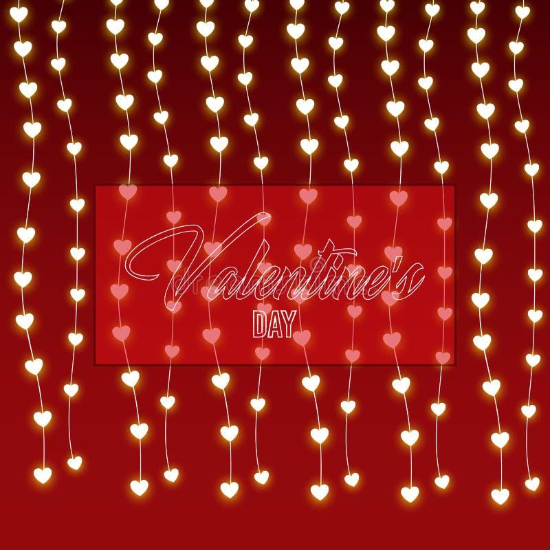 Éléments heureux de jour de valentines et de conception de sarclage Illustration de vecteur Fond rose avec des ornements, confett illustration de vecteur