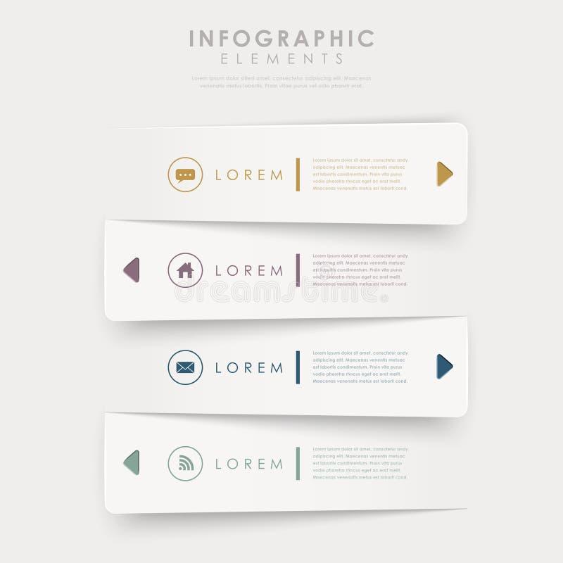 Éléments infographic de calibre de bannières de conception moderne illustration libre de droits