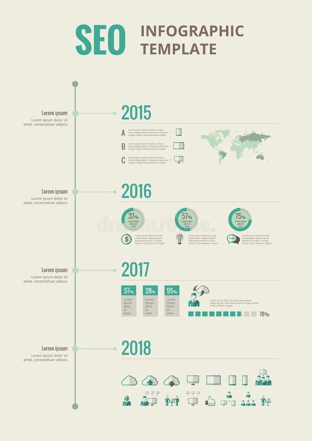 Éléments infographic de media social illustration stock