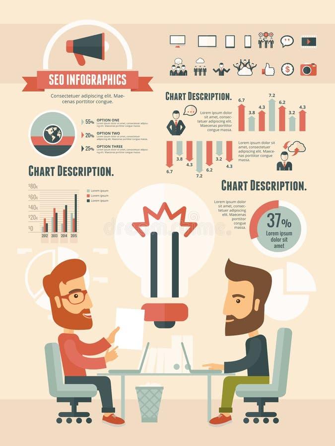 Éléments infographic de media social illustration de vecteur