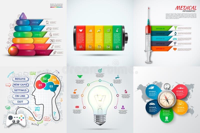 Éléments infographic de vecteur illustration stock
