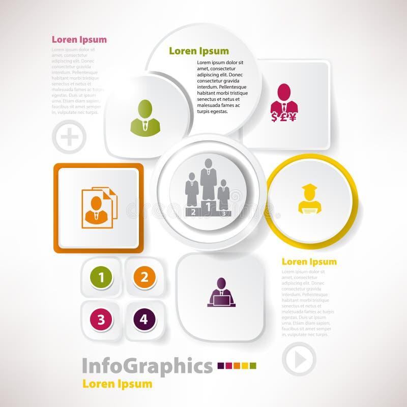 Éléments modernes de vecteur pour l'infographics avec le papier illustration de vecteur