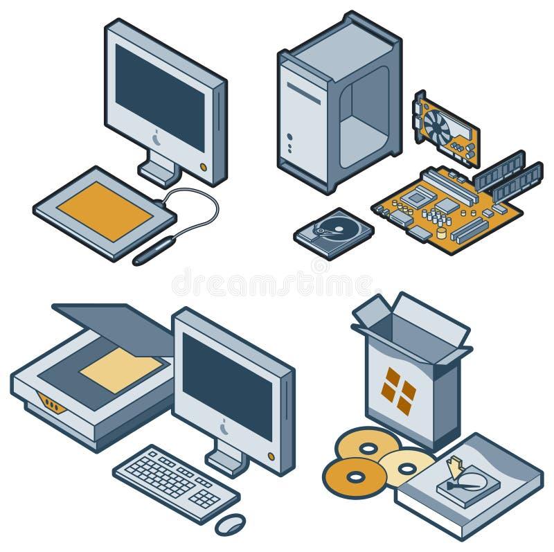 Éléments P. 5c de conception illustration stock