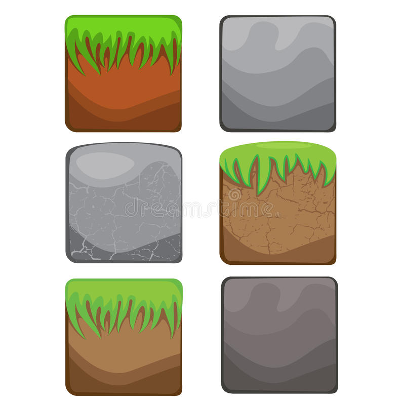 Éléments pour le web design et l'interface utilisateurs des jeux d'ordinateur : St illustration libre de droits