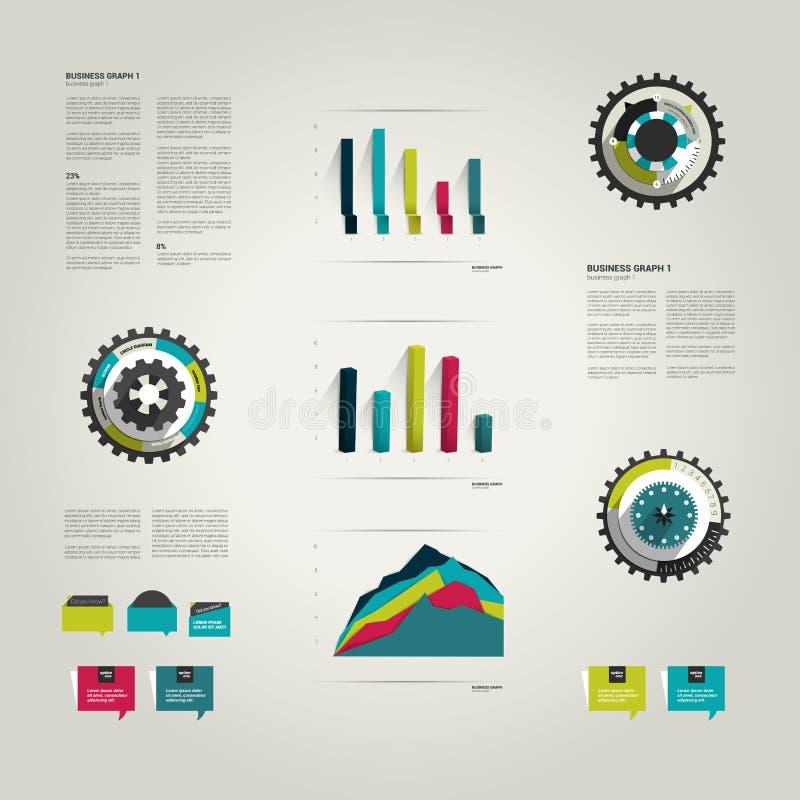 Éléments réglés d'Infographic illustration de vecteur