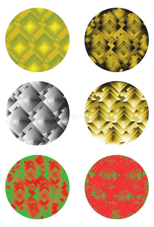 Éléments ronds de conception images stock