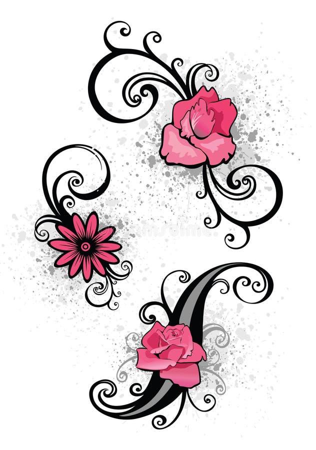 Éléments roses de conception illustration de vecteur