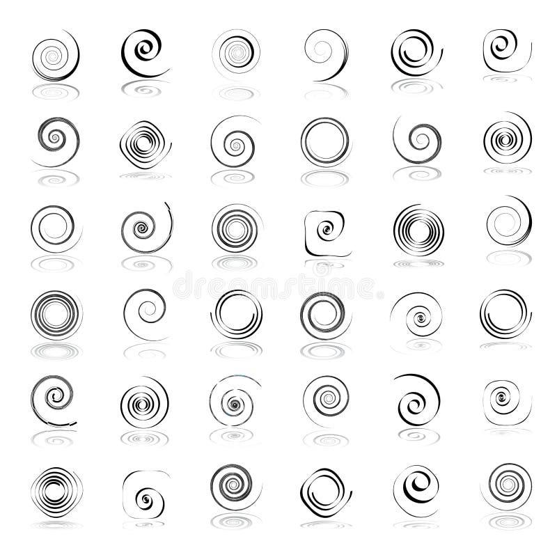 Éléments spiralés de conception illustration de vecteur