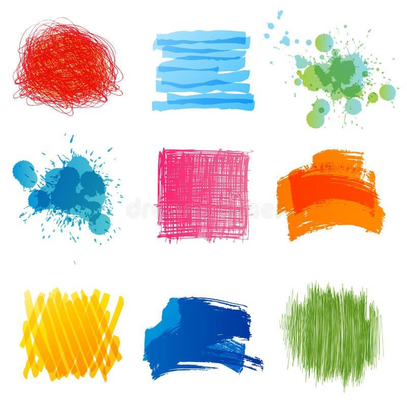 Éléments tirés par la main de conception illustration stock